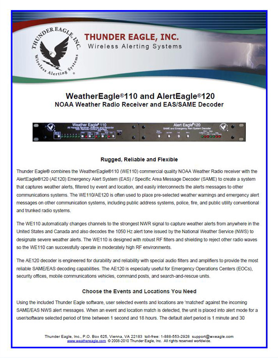 Thunder Eagle, Inc  - Wireless Alerting Systems